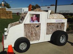 Assistant Town Manager Brian Hartsell driving the Street Dept. display.
