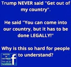 These idiotic leftists or libtards must not understand English! They need to calm down, breathe, and listen.....