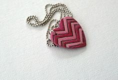 $5.00 + shipping at fiverr.com!! JaneLoeddingArt: I will create a wooden heart pendant with a chevron pattern