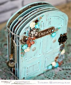 "ScrapMir: Interactive album ""Door to Wonderland. Photo Album Scrapbooking, Mini Scrapbook Albums, Baby Scrapbook, Interactive Journals, Pocket Letters, Book Projects, Handmade Books, Little Books, Book Making"
