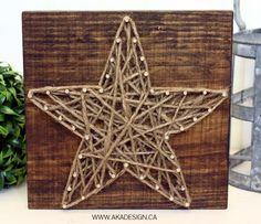 DIY String Art Projects - DIY String Art Star - Cool, Fun and Easy Letters…