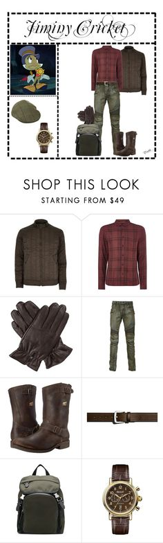 """Jiminy Cricket (1730)"" by trufflelover ❤ liked on Polyvore featuring Fallon, River Island, Label Lab, Dents, Balmain, Frye, Shinola, Neil Barrett, Ingersoll and men's fashion"