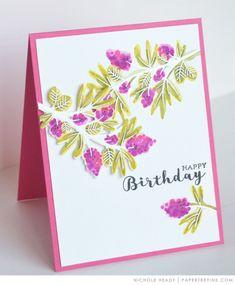Watercolor Birthday Card - PTI Beautiful Berries: Spring