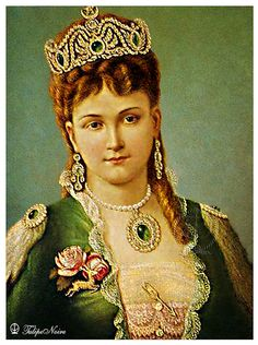 Oil Portrait Of Princess Gamila-Fadel, Daughter Of Khedive Ismail (1869-1896) | by Tulipe Noire