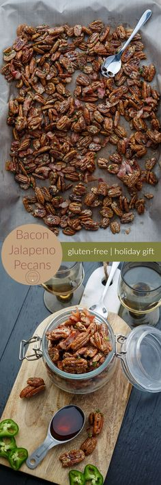 Bacon Jalapeno Pecans | http://thecookiewriter.com | @thecookiewriter | #pecans | An easy gluten-free snack that is perfect during the holidays, these pecans also have a hint of maple to them, making them great for salads!