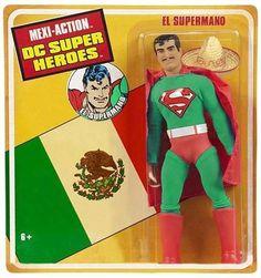 El Supermano, complete with sombrero and macho mustache (bootleg toy)