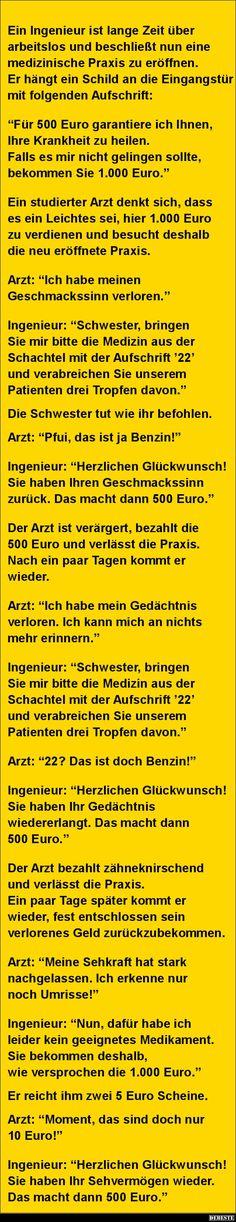 Ein Ingenieur ist lange Zeit über arbeitslos und beschließt.. | DEBESTE.de…