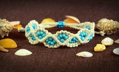Beach Inspired Beaded Macrame Bracelet