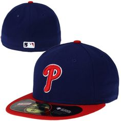buy online f10b1 65685 New Era Philadelphia Phillies On-Field Performance 59FIFTY Fitted Hat -  Royal Blue Red