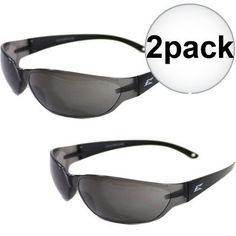 d0f2c2161e Edge Eyewear Savoia Safety Glasses - Black with Smoke Lens New