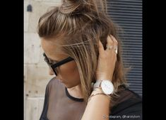 Bun hairstyles are very popular among girls. A messy bun keeps your hair proper. You can just style it in different way to give your hair a very stylish look. By just simply knowing little about messy bun hairstyles you can create… Continue Reading → Bun Hairstyles, Pretty Hairstyles, Hairstyles 2016, Hairstyle Ideas, Fashion Hairstyles, Bob Hairstyles How To Style, Hairstyles Pictures, Hairstyle Tutorials, Casual Hairstyles