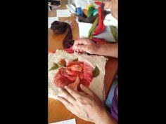 YouTube Fabric Art, Fabric Crafts, Sewing Crafts, Felted Wool Crafts, Felt Crafts, Felt Pictures, Needle Felting Tutorials, Felt Embroidery, Crafts