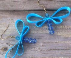 Teal and blue dragonfly ribbon and by GnosisCraftsandGifts on Etsy