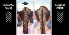 Reverse Fishtail Braid vs Regular Fishtail Braid   Cute Girls Hairstyles