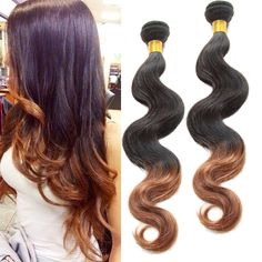 100% Ombre Human Hair Extensions 2 tone 1B/30# BODY WAVE,50g/pc Beauty Hair Weft #WIGISS #HairExtension