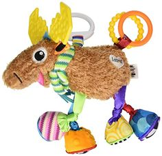 Tomy Lamaze Play and Grow Take Along Toy, Mortimer the Moose Tomy http://www.amazon.com/dp/B000I2MRLU/ref=cm_sw_r_pi_dp_P1mRub0ZHYJJ8