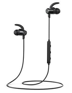 Anker SoundBuds Slim Wireless Headphones, Bluetooth Lightweight Stereo Earbuds with Magnetic Connection Best Bluetooth Headphones, Best Earbuds, Bluetooth Gadgets, Connection, March, Slim, Top, Anchor, Crop Shirt