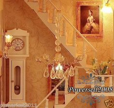 ENGLISH WOODEN DOLLHOUSE- the light....