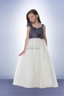 Wedding Dresses, Bridesmaid Dresses, Prom Dresses and Bridal Dresses Bill Levkoff Flower Girl Dresses - Style 33401 - Bill Levkoff Flower Girl Dresses, Fall Charmeuse/Chiffon bodice with Ivory skirt. Flower Girl version of Shown in Pewter/Ivory. Bill Levkoff Bridesmaid Dresses, Grey Bridesmaid Dresses, Bridal Wedding Dresses, Designer Wedding Dresses, Junior Bridesmaids, Wedding Bells, White Flower Girl Dresses, Girls Dresses, Flower Girls