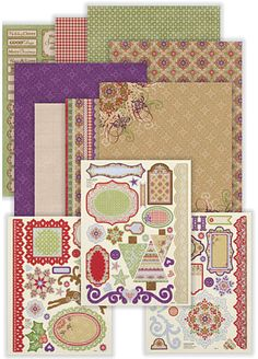 Sugar Plum Artful Card Kit from Paperwishes love it!