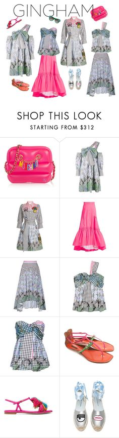"""""""Gingham Sets II"""" by geonell ❤ liked on Polyvore featuring Moschino, Peter Pilotto, Louis Vuitton, Stuart Weitzman and Chiara Ferragni"""
