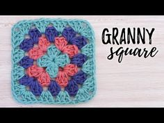 Transcendent Crochet a Solid Granny Square Ideas. Inconceivable Crochet a Solid Granny Square Ideas. Granny Square Crochet Pattern, Crochet Flower Patterns, Crochet Squares, Crochet Granny, Granny Squares, Crochet Quilt, Diy Crochet, Crochet Crafts, Irish Crochet