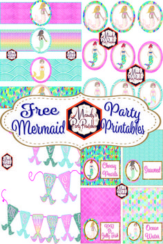 Free Mermaid Birthday Party Printables | Mandy's Party Printables