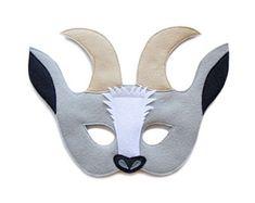 Etsy :: Your place to buy and sell all things handmade Farm Animal Costumes, Goat Mask, Billy Goats Gruff, Felt Kids, Animal Masks, Mask For Kids, Handmade Felt, Pretend Play, Felt Animals