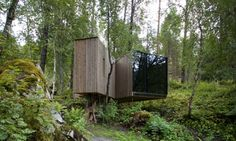 "The Juvet Landscape hotel in north-western Norway is a minimalist structure that aims to immerse the guest in the nature that surrounds it. The hotel consists of seven buildings made from pine and glass dotted within the forest. <a href=""http://www.juvet.com/"">juvet.com</a>"