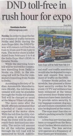 #DND toll free in rush hour for #EXPO !!  www.thenityagroup.com  #NityaGroup #IndiaExpoMart #AutoExpo