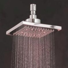 @Overstock - Materials: Plastic aluminum Brand: Hammaka Number of settings: One http://www.overstock.com/Home-Garden/Hammaka-5-inch-Square-Plastic-Aluminum-Single-setting-LED-Shower-Head/6359387/product.html?CID=214117 $32.49