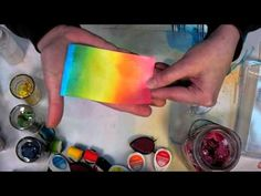 Tips on using spray ink and blenders