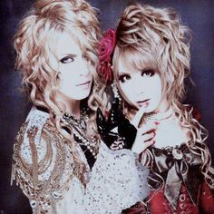 Kamijo & Hizaki of Versailles Two boys who really like dressing as a girls.