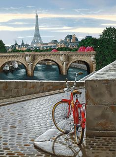 DIY Frame Paris Landscape Acrylic DIY Painting By Numbers Wall Art Pictures For Wedding Decoration Drop Shipping Modern Pictures, Wall Art Pictures, Paris Painting, Diy Painting, Torre Eiffel Paris, Eiffel Tower Painting, My Little Paris, Paris Art, Bicycle Art