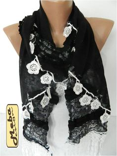Elegant scarf  Fashion scarf  scarves gift Ideas For by MebaDesign
