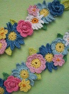 Artesanato com amor...by Lu Guimarães: Flor em crochê