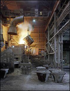 Charging the converter - Latrobe Specialty Steel, Latrobe Pennsylvania