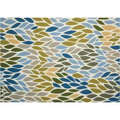 Nourison Home & Garden Leaves Geometric Indoor Outdoor Rug, Multicolor