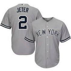 Derek Jeter #2 new York Yankees away jersey (grey)