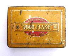 1960s Vintage Cigarette Tin Gold Flake Cigarettes Virginia Tobacco Wills Prize Medal London 1962 Honey Dew Vintage Tobacco Tin Tobacciana by FillyGumbo