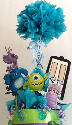 Hey, I found this really awesome Etsy listing at https://www.etsy.com/listing/198893557/monsters-inc-baby-shower-centerpiece