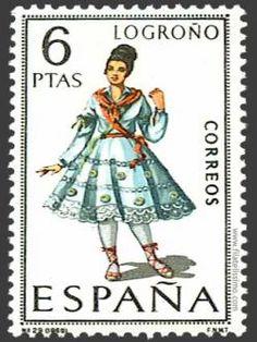 Spain Stamp - Regional costume Logroño