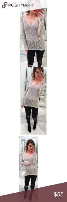 Feel the Piece Crochet V Neck Sweater This crochet sweater by Feel the Piece featured long fitted sleeves and a v neckline. Ribbed hem and cuffs. Size xs/s. Made in USA. 💕Offers welcome on single items and on bundles. Take 20% off your bundles automatically at checkout. Happy Poshing!💕 Feel The Piece Sweaters V-Necks