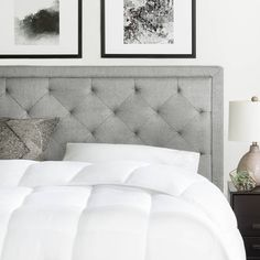 BROOKSIDE Upholstered Headboard with Diamond Tufting   Overstock.com Shopping - The Best Deals on Headboards