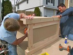 Cool ManCaves - How to Build a Simple Wood Bar : How-To : DIY Network...plans for my basement redo! #thatseasier #cool #mancaves