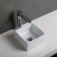 lille håndvask Geo I firkantet til bordplade