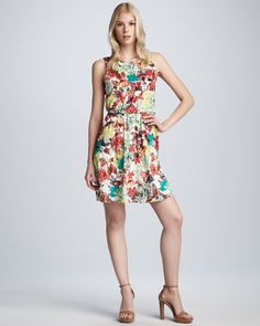 Alina Vintage Floral-Print Dress by Alice + Olivia at Neiman Marcus.