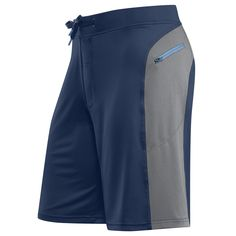 navy / cool gray short for men | men's fitness short