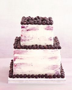 "See the ""Berry Nice"" in our 5 Wedding Cake Ideas That Come by Their Soft Colors Naturally gallery"