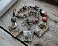 Rustic Ancient relic inspired tribal necklace / by JeSoulStudio